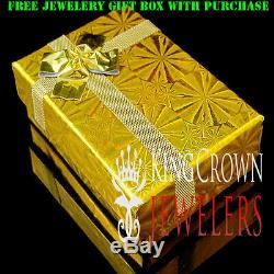 10K Yellow Gold Over Real Silver Jigsaw puzzle Piece Simu Diamond Pendant Charm