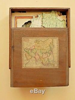 1792 Georgian Jigsaw Puzzle Asia Old Antique Map Darton Harvey Box Complete RARE