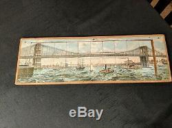 1889 Brooklyn Bridge Puzzle. New York City. Complete! Antique Americana. USA