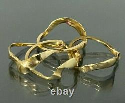 18K solid gold puzzle ring 5.18g size G 1/4 3 1/2