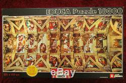 18,000 Piece Puzzle -Sistine Chapel 10 1/2 feet x 5 feet