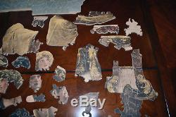 1930s 1000+ Antique Pastime Picture Puzzle Reading From Homer Parker Bros Wood