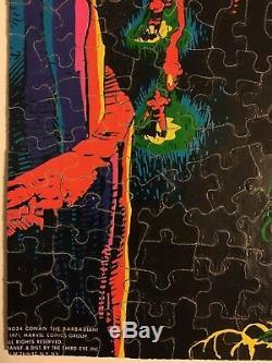 (1971) THIRD EYE BLACK LIGHT CONAN JIGSAW PUZZLE! Complete! MARVELMANIA