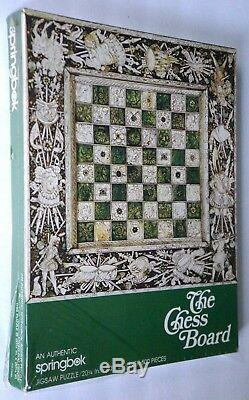 1975 Vintage Springbok THE CHESS BOARD 20X20 500 Piece RARE NEW Sealed Puzzle