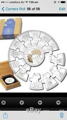 2008 australia first fleet jigsaw puzzle 5oz silver medallion coin set megasale