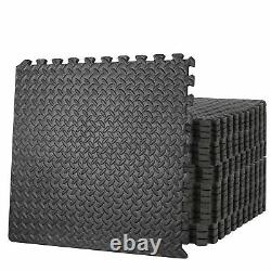 24pc Puzzle Exercise Mat with EVA Foam Interlocking Tiles 96 Sq Ft GYM Home
