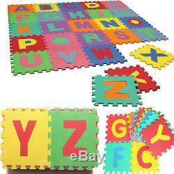 26 Pcs Large Alphabet Eva Mat Kids Floor Play Area Room Soft Foam Puzzle Jigsaw
