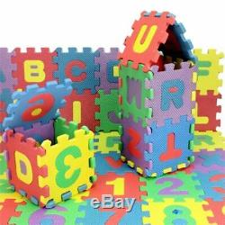 36pcs A-Z ALPHABET NUMBERS EVA PLAY MAT BABY CHILDREN SOFT FOAM JIGSAW PUZZLE