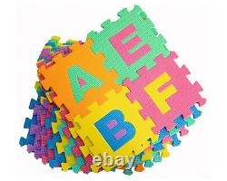 36x Alphabet Baby Foam Play Mat Kid Soft EVA Crawling Jigsaw Puzzle Floor Tile