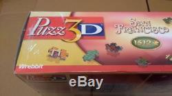 3D Puzzle Wrebbit San Francisco FACTORY SEALED! Huge 1512 pieces! CLASSIC