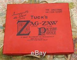 420 Piece Tuck's ZAG-ZAW Jigsaw Puzzle The Little Fishermaids by W J Coleman