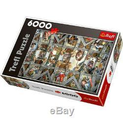 6000 Pieces TREFL Jigsaw Puzzle DIY Decompression Toy-Sistine Chapel Ceiling