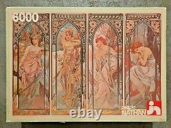 6000 piece puzzle,'The four times of day Alfons Mucha, 1983 Very Rare