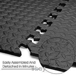 72 216Sq Ft Floor Mat Protector Interlocking Puzzle Foam Gym Fitness Exercise