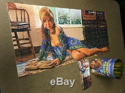 7 Vintage tin can Playboy Playmate Centerfold Jigsaw Puzzles