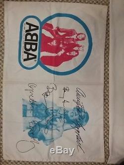 ABBA Original Australia Only 1976 1977 PILLOWCASE x 7 + JIGSAW PUZZLE RARE