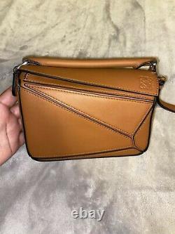AUTHENTIC Loewe Puzzle Bag Mini Tan