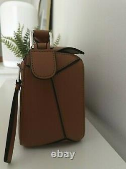 AUTHENTIC Loewe Puzzle Bag Small Tan