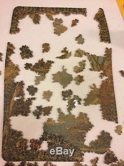 Antique PAR Picture Puzzle Wooden Jigsaw 19 figurals Vtg rare hard to find