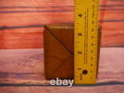 Antique Singer Sewing Box Puzzle Small Treadle Machine Wood Folding 1890's