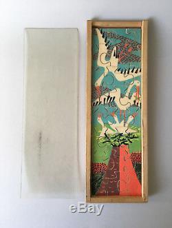 Antonio Vitali Jigsaw Puzzle wooden Toy Storks Theme Vintage Swiss Design