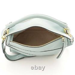 Auth Loewe Puzzle Bag Medium Leather 2WAY Shoulder Bag Blue 126258