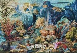 Big LIBERTY Classic Wooden Jigsaw Puzzle Ocean Life 769 pieces XL COMPLETE Bonus