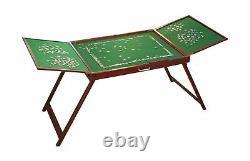 Bits Portable Jigsaw Puzzle Table Storage Foldable Wooden Non Slip Felt Surface