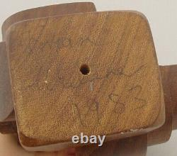 Brian Willsher Modernist Wooden Puzzle Sculpture Signed, Unititled, Dated 1983