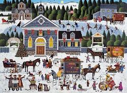 Buffalo Games Churchyard Christmas by Charles Wysocki Jigsaw Puzzle 1000 Piece