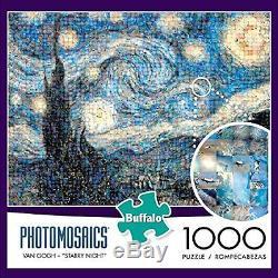 Buffalo Games Photomosaic, The Starry Night 1000pc Jigsaw Puzzle