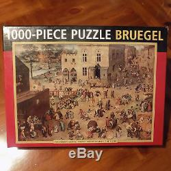 CHILDREN'S GAMES, 1560 By PIETER BRUEGEL 1000 Pc JIGSAW PUZZLE PEONY PRESS EUC