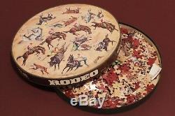 COMPLETE! 1967 Rodeo Cowboys & Horses Springbok Circular Round Jigsaw Puzzle
