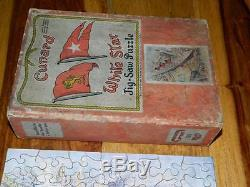 Chad Valley 1936-49 Cunard White Star Liner Queen Mary 150 Piece Wooden Jigsaw