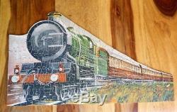 Chad Valley Very Rare Gwr 1928-30 Wooden Jigsaw Puzzle Speed Caerphilly Castle