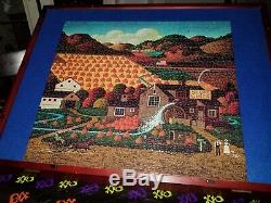 Charles Wysocki Seasonal Splendor Pumpkin Spyce Grove 1000-Piece Puzzle (Rare)