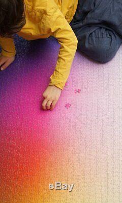 Clemens Habicht's 5000 COLOURS CMYK colour gamut jigsaw puzzle of 5000 pieces