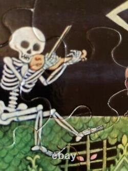 Complete 1973 SPRINGBOK Puzzle HOUSE on HAUNTED HILL withBox 100 pc Halloween