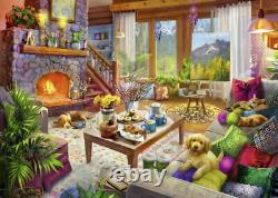 Cozy Cabin 1000 Piece Jigsaw Puzzle FREE SHIPPING