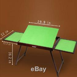 DIY Jigsaw Puzzle Table Storage Folding Table Mat Tilting Eye Protection Wooden