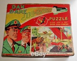 Dan Dare Eagle Jigsaw Puzzle Space Fleet Headquarters 1950's Rare Complete C849