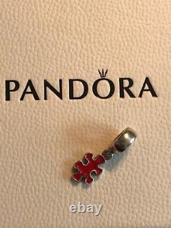 Discontinued Genuine Pandora Dangle Charm Jigsaw Puzzle Piece Red 790486EN09