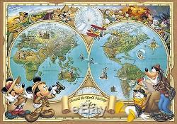 Disney Jigsaw Puzzle 2000 pcs Great Map 73x102cm Tenyo JP 2004 rare