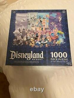 Disney Parks Disneyland 60 Resort Diamond Celebration 1000 Piece Puzzle 27x20