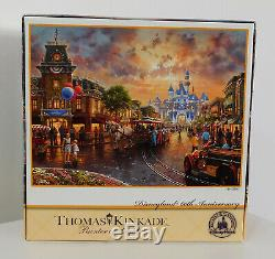 Disney Thomas Kinkade DISNEYLAND 60th ANNIVERSARY Main Street Castle Walt Puzzle