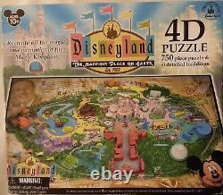 Disneyland Park Map 4D 750 pc Jigsaw Puzzle +50 Detail Buildings 99.5%+ Complete
