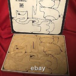 ENZO MARI Authentic Rare ANIMALI 16 Piece Puzzle. PERFECT. ! BEAUTIFUL.