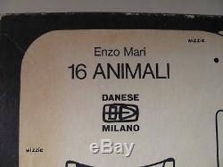 ENZO MARI Puzzle 16 animali / Danese Milano (RARE)