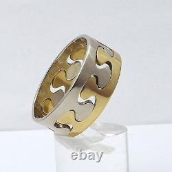 Ed Levin Custom 18K Yellow 14K White Gold Puzzle Wedding Band Ring 10gr sz13
