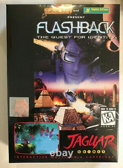 FLASHBACK The Quest for Identity Atari Jaguar NEW Factory Sealed